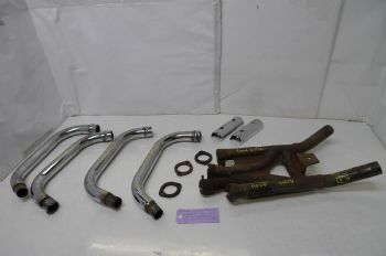 YAMAHA XJ900 DIVERSION   EXHAUST DOWN PIPES + COLLECTOR BOX  (CON-C)